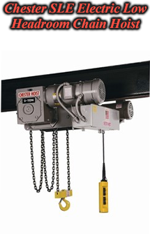 Chester SLE Electric Low Headroom Chain Hoist