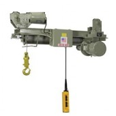 2 Ton Single Hook Low Headroom True Vertical Lift Monorail Hoist (55' Lift & 30 FPM)
