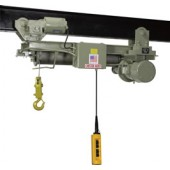 1 TON SINGLE HOOK STANDARD HEADROOM MONORAIL HOIST (24' Lift & 40 FPM)