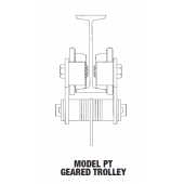 .25 TON MODEL PT GEARED TROLLEY TYPE FOR WIDER BEAM