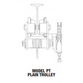 .5 TON MODEL PT PLAIN TROLLEY TYPE FOR WIDER BEAM