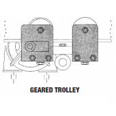 1 TON SWIVEL TRUCK PRECISION BEARING GEARED TROLLEY