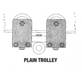 1 TON SWIVEL TRUCK PRECISION BEARING PLAIN TROLLEY